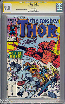 Thor #362 Cgc 9.8 Ss Stan Lee Signed Single Highest Graded  #1191286005
