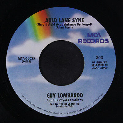 GUY LOMBARDO: Auld Lang Syne / Hot Time In The Old Town Tonight 45 (re)