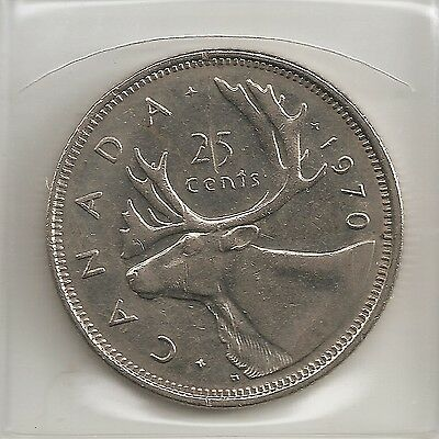 Scarce 1970 Canada/canadian Quarter Dollar .25¢ Coin (Low  Mintage)
