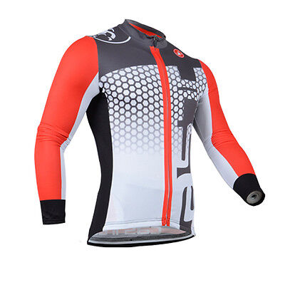 New Men's Cycling Bike Bicycle Comfortable Wear Long Sleeve Jersey Shirt Jacket