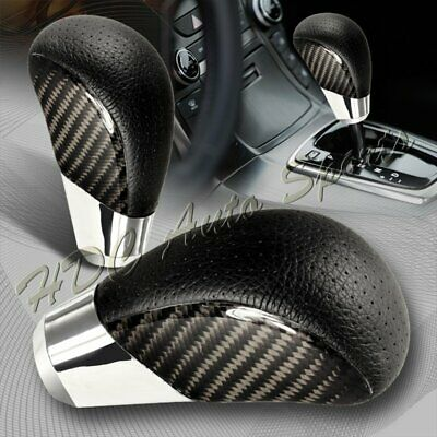 VIP Real Carbon Fiber PVC Leather Manual MT Gear Shift Shifter Knob Universal 5