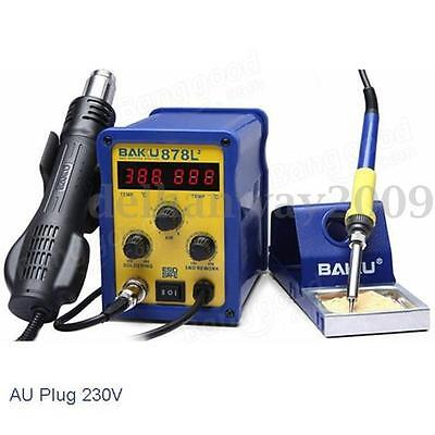 BAKU BK-878L2 700W 230V AU Plug 2in1 Rework Station Soldering Iron Hot Air Gun