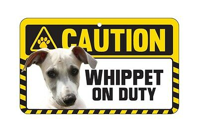 Dog Sign Caution Beware - Whippet