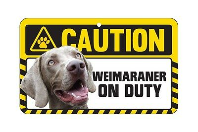 Dog Sign Caution Beware - Weimaraner