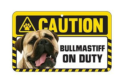 Dog Sign Caution Beware - Bullmastiff