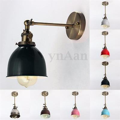 Vintage Antique Industrial Bowl Sconce Loft Wall Light Wall Lamp E27 Lampshade