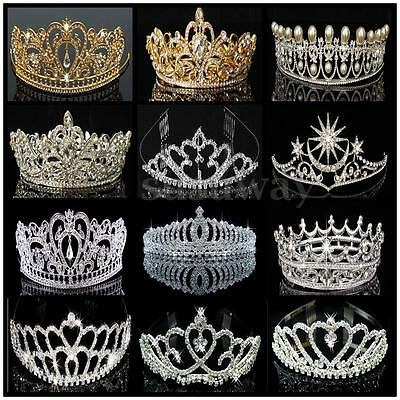 Luxury Crystal Rhinestone Bridal Tiara Wedding Prom Pageant Crown Headband AU