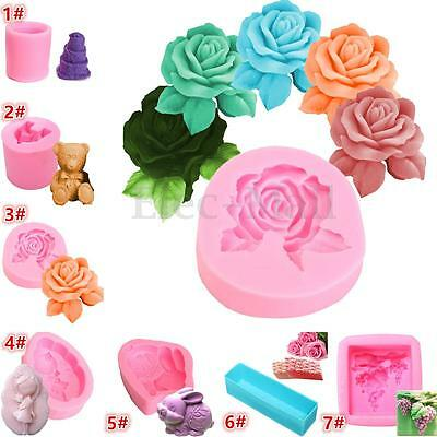 Silicone Soap Mold Clay Candle Molds Silicone Candle Soap Chocolate Mould DIY
