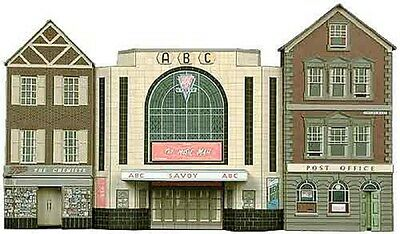 Superquick C2 Low Relief Post Office, Cinema & Shop Oo Card Kit Suit Hornby Peco