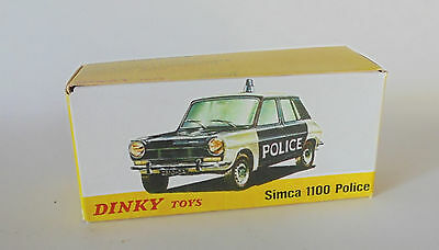 1450 SIMCA 1100 Police REPRO BOX DINKY n