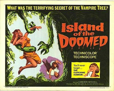 ISLAND OF THE DOOMED original 1966 HORROR 22X28 movie poster CAMERON MITCHELL