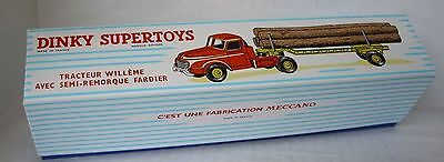 Repro Box Dinky Nr.897 Tracteur Willeme Semi-Remorque Fardier (Holztransporter)