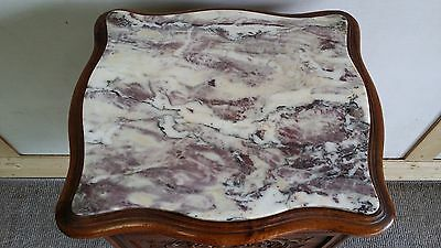 Beautiful Antique  French Bedside Cabinet Tuscany Marble Bdc 89