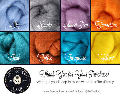 CHOOSE  5 or 10 COLORS, Wool Roving for Sale, Needle Felting Supplies, Spinning