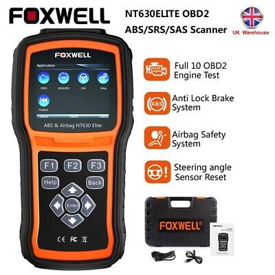 Car OBD2 ABS Airbag SRS Diagnostic Scan Tool Foxwell NT630 Pro Reset Code Reader