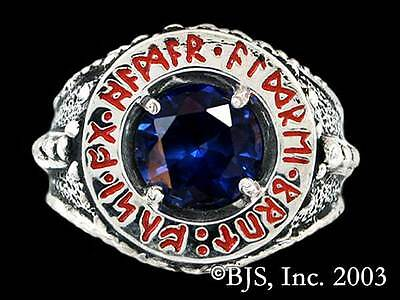 Dwarven Ring of Power, Silver Lord of the Rings Jewelry, Licensed, Dwarf Ring