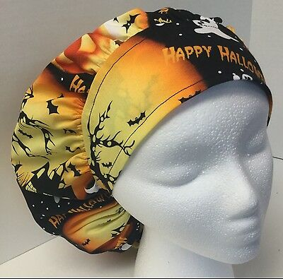 Happy Halloween Medical Bouffant OR Scrub Cap Surgical Surgery Hat