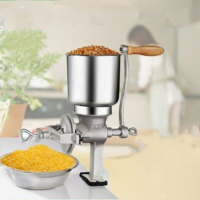 HOT 500gm CAST IRON HAND OPERATED CORN GRAIN WHEAT SPICE GRINDER CRUSHER MILL AU