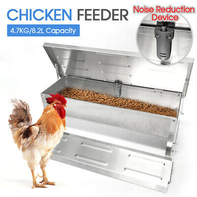 4.7Kg Aluminum Automatic Chicken Food Feeder Auto Treadle Self Opening Feed