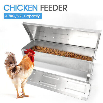 4.7Kg Galvanized Automatic Chicken Food Feeder Auto Treadle Self Opening Feed