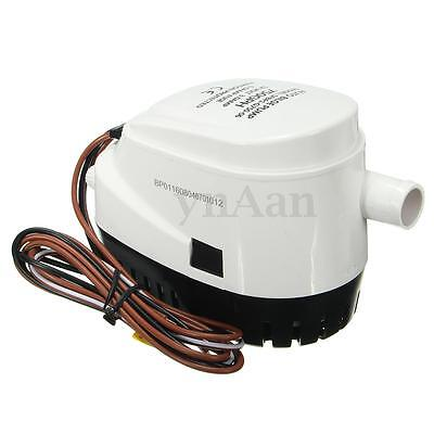12V 750GPH Automatic Submersible Bilge Water Pump Built Compact For Boat Marine