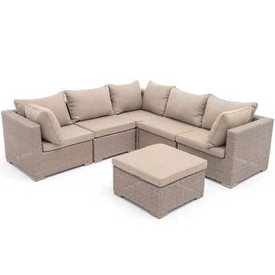 poly rattan aluminium sofa sitzgruppe gartenm bel lounge m bel 2 bez ge eur 419 99 picclick es. Black Bedroom Furniture Sets. Home Design Ideas