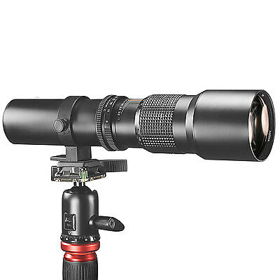 Neewer 500mm f/8 Manual Focus Telephoto Lens, Compatible with SLR/DSLR Camera