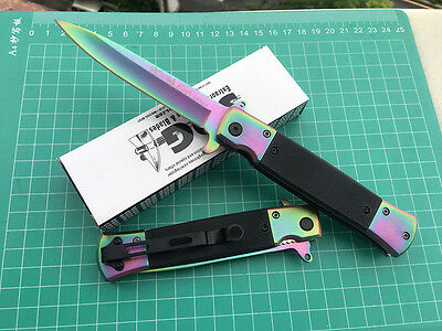 SOG Colorized Folding Pocket Knife Outdoor Hunting Camping Fishing Survival Gift