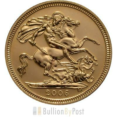 2006 Gold Half Sovereign Elizabeth II Old Head