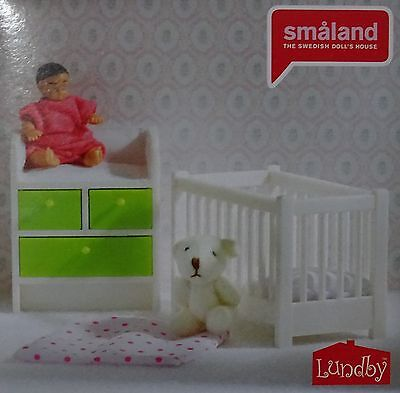 lundby smaland bett hochbett sessel f r puppenhaus. Black Bedroom Furniture Sets. Home Design Ideas