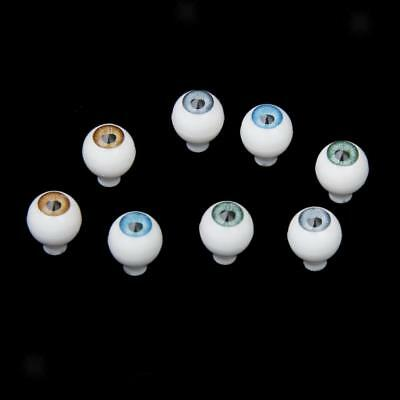 8x 10mm Round Acrylic Doll Eyes for Animal Figure Toy Eyeballs DIY Supply