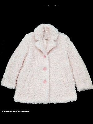 Ex-Store Girls Supersoft Boucle Pink Jacket/Coat   Ages  3/4  5/6  7/8  11/12