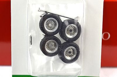 Metal Spoked Wire Wheel Set Ferrari 250Gto Suit Other 1950S/60S 1:43 Brumm F089