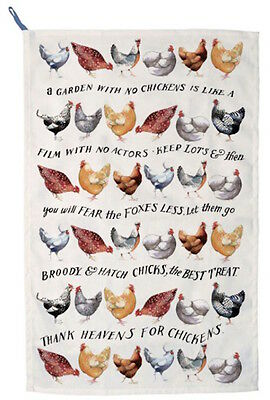 Emma Bridgewater Year In The Country Hens Chickens Tea Towel New With Tags New