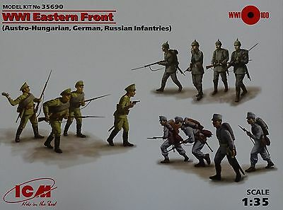 ICM 35690 WWI Ostfront (Ausrro-Hungarian, German, Russian Infantry) in 1:35