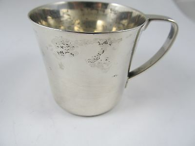 Tiffany & Co M Sterling Silver Baby Cup Excellent Condition Monogram