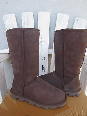 51be6dce242 NEW WOMENS UGG Essential Tall Grey Sheepskin Warm Winter Boots ...