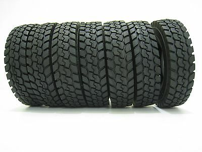 4 X 1:14 Tractor Truck Trailer Climbing Car Rubber Tires Tyres Set  For Tamiya
