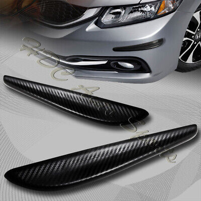 Universal JDM 363MM Carbon Style Bumper Lip Side Scratch Protector Strip Guard