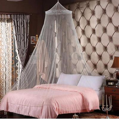 Elegant Lace Bedroom Mosquito Netting Mesh Canopy Princess Round Dome Bedding