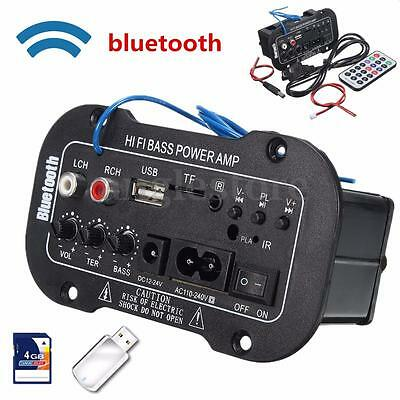 220V 50W Bluetooth Voiture Stereo Digital Amplificateur MP3 USB TF Télécommande