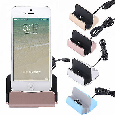 Desktop Charger STAND DOCK STATION Sync Charge Cradle for iPhone 6s 6 5s 7 Plus