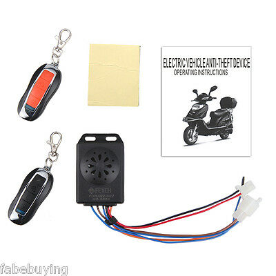 UK Electric Scooter Motorcycle Anti-theft Security Alarm System Remote Control
