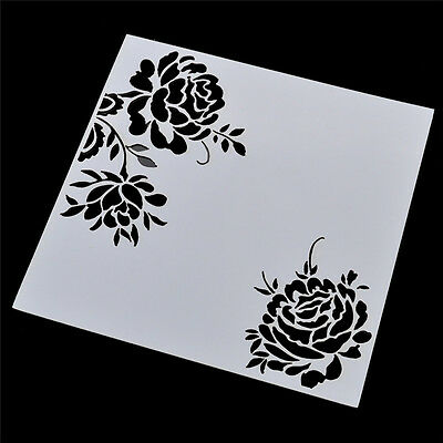 Flower Stencil Template For DIY Scrapbooking Photo Paper Cards Craft