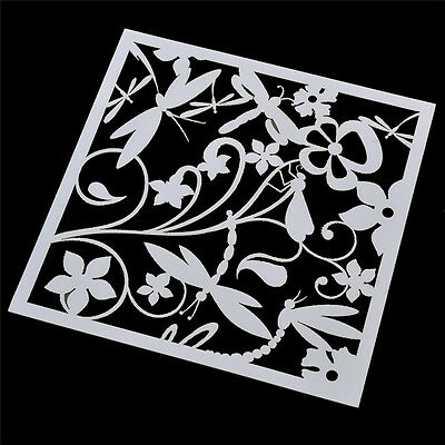 Dragonfly Stencil Template For DIY Scrapbooking Photo Paper Cards Craft