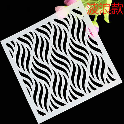 Wave Stencil Template For DIY Scrapbooking Photo Paper Cards Craft