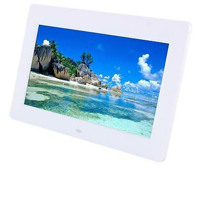 "10"" HD Digital Photo Frame LED Backlight Picture Video Player Remote Control WHI"
