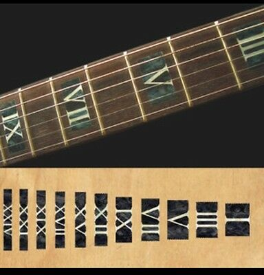 Roman Numeral black pearl Guitar Fret board Markers Inlay stickers