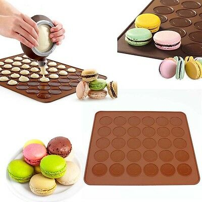 newc Silicone Pastry Muffin Cake Macaron Oven Baking Mould Mold Sheet Mat MT eu