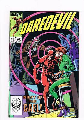 Daredevil # 205 Night of the Gael ! grade 9.0 scarce book !!